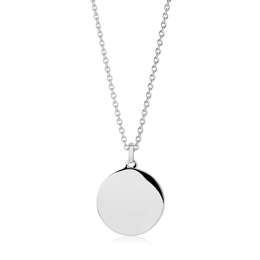 round-silver-personalised-disc-necklace
