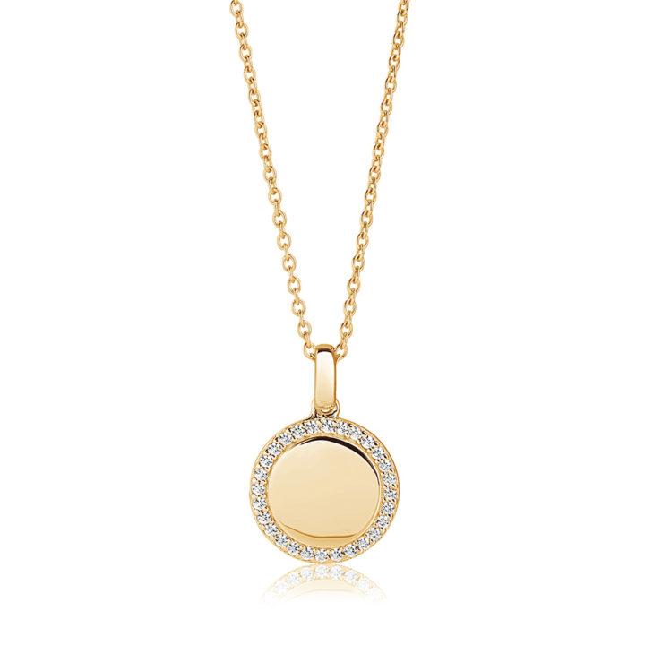 round-stone-set-gold-personalised-necklace