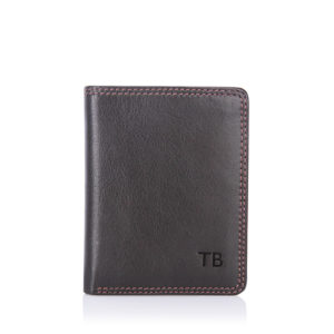 slim-bi-fold-brown-wallet-initials