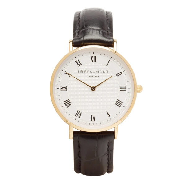 Mr-Beaumont-personalised-retro-watch-black-gold