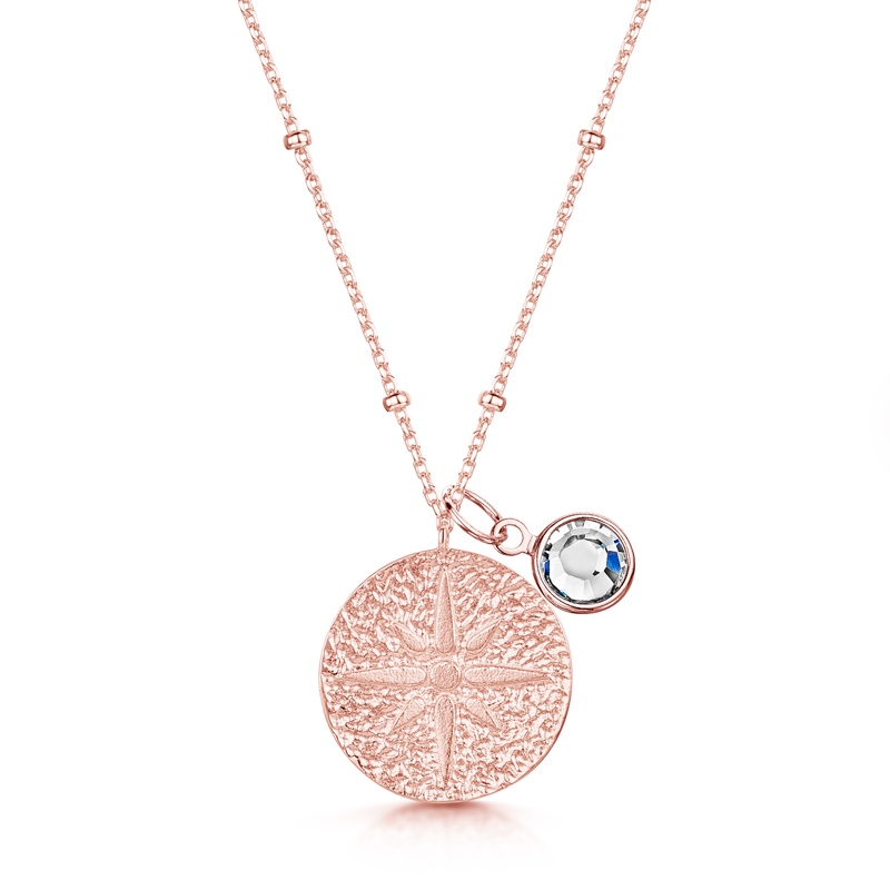 compass-necklace-with-charm-silver-front-apr