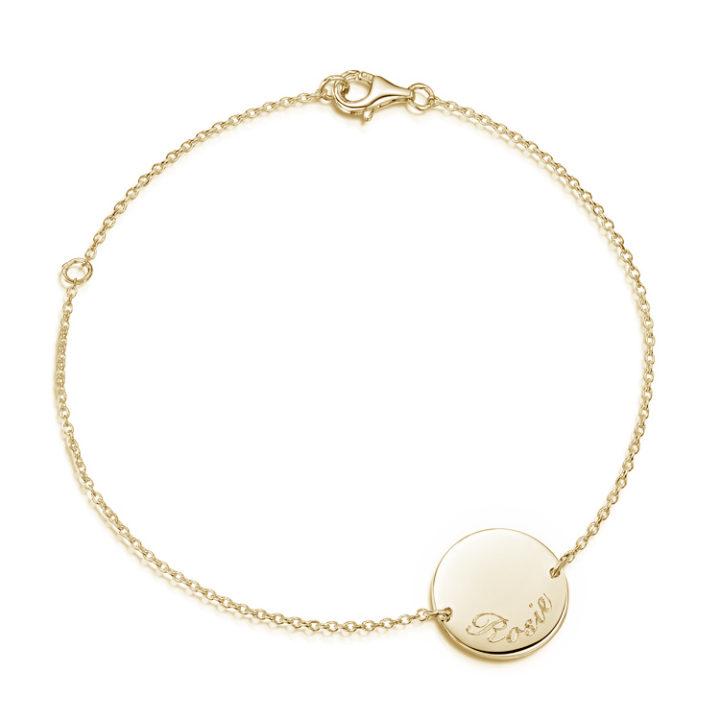 gold-disc-personalised-bracelet