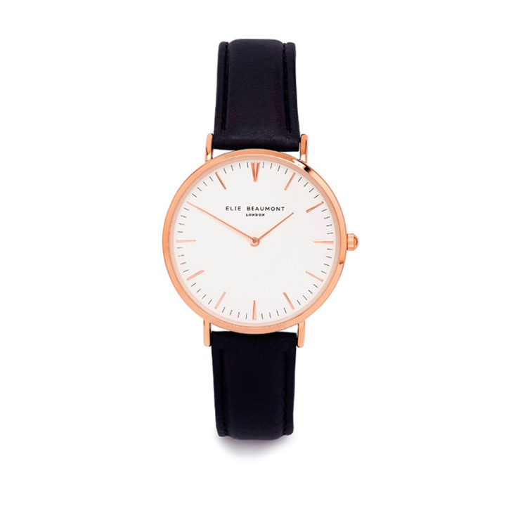 oxford-rose-black-strap-ladies-watch