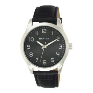 henley-steel-case-black-strap-watch