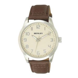henley-steel-case-brown-strap-watch
