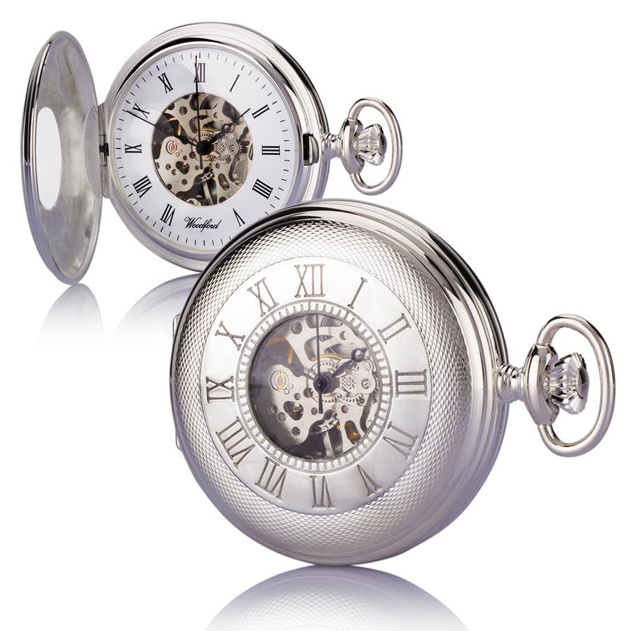 half hunter-silver-pocket watch