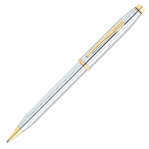 rollerball twist pen with gold clip