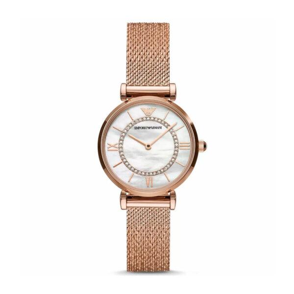 Armani-ladies-watch-rose-gold