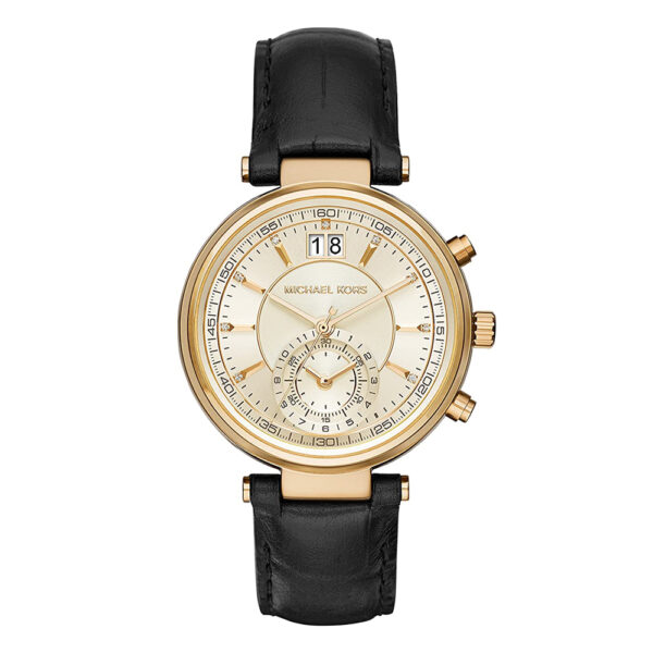Michael-Kors-watch-ladies-gold-black-strap