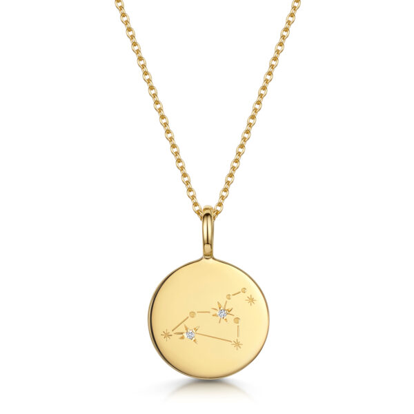 Personalised-Constellation-Necklace-leo-gold
