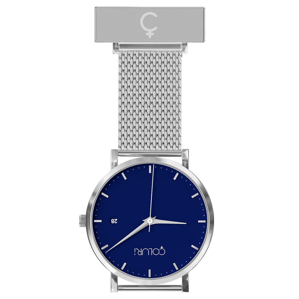 coluri-silver-mesh-nurse-fob-blue-dial