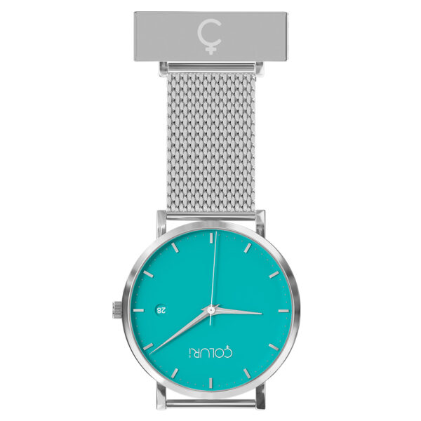 coluri-silver-mesh-nurse-fob-green-dial