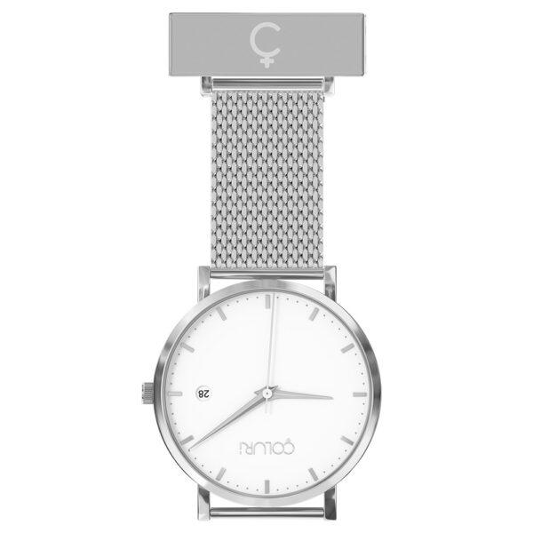 coluri-silver-mesh-nurse-fob-white-dial
