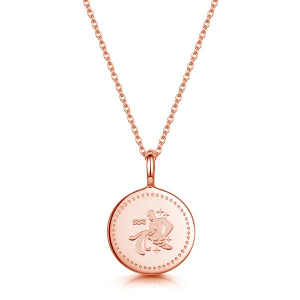 personalised-zodiac-necklace-aquarius-rose