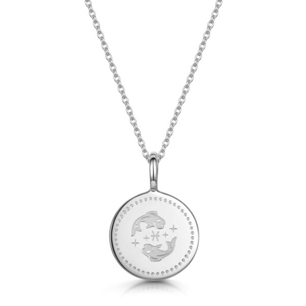 personalised-zodiac-necklace-pisces-silver
