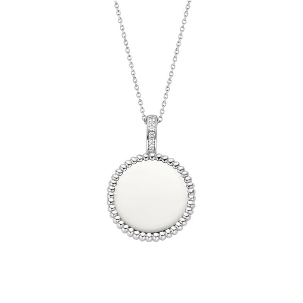 beaded-surround-silver-necklace